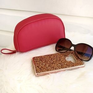 Half Moon Cosmetic Pouch makeup bag